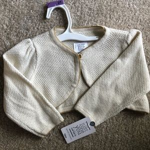 Never worn ivory and gold sweater with tags!